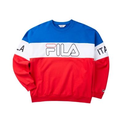 FILA #LINEA ITALIA 長袖圓領T恤-紅 1TET-5405-RD