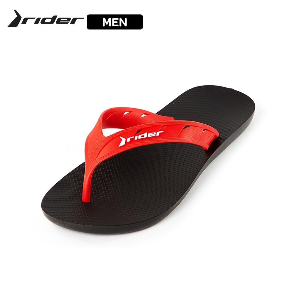 Rider STRIKE-街頭型男系列寬帶人字拖 男鞋 黑紅