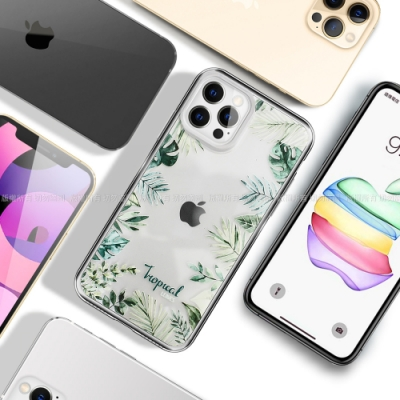 MOOTUN for iPhone 12 Pro Max 6.7 防護晶透保護殼- Tropical綠葉