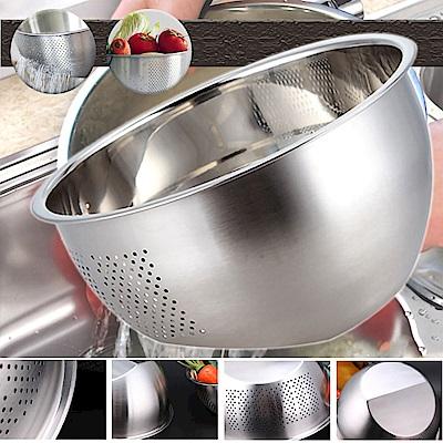304不鏽鋼雙底面淘米洗菜瀝水盆