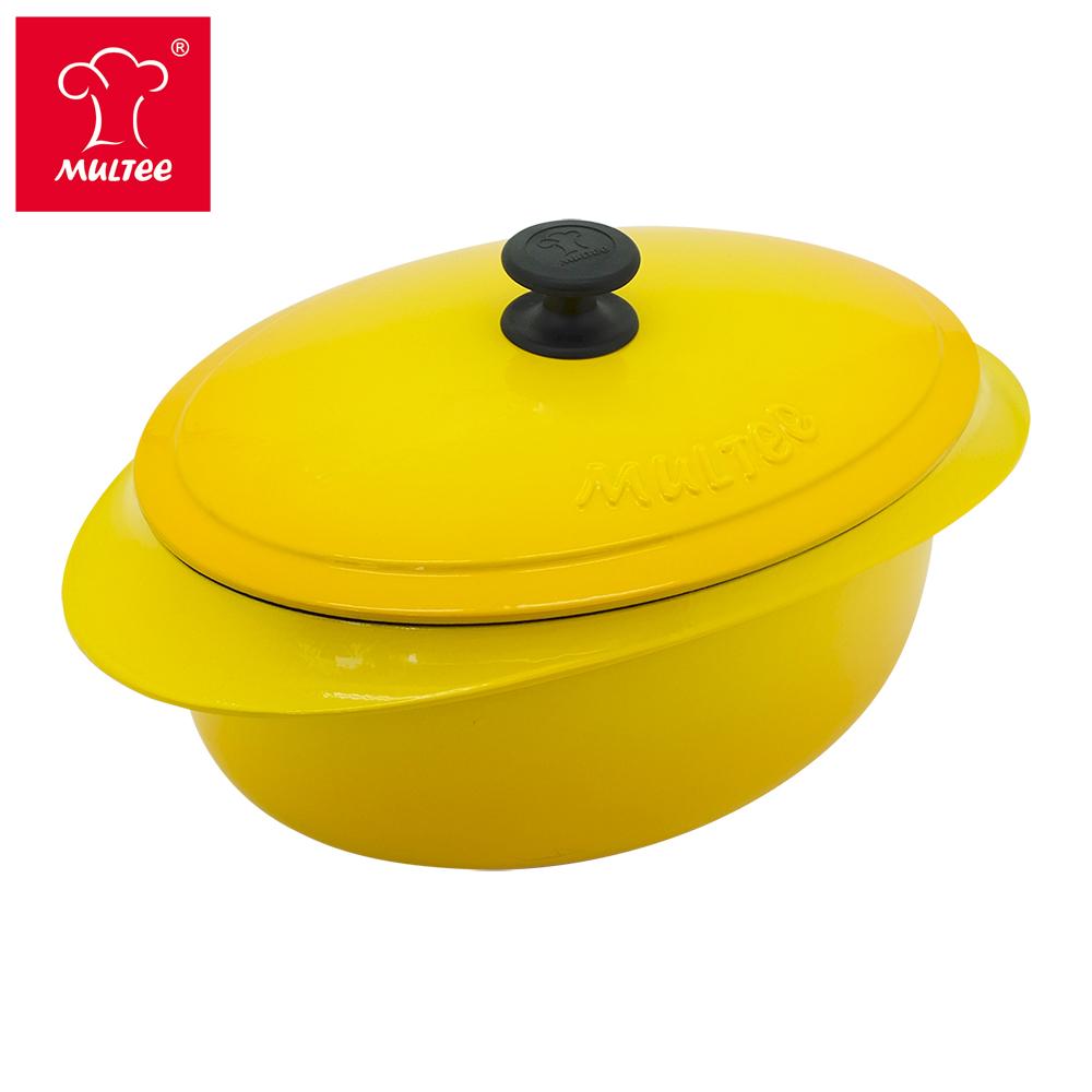 MULTEE摩堤 鑄鐵橢圓鍋32cm product image 1