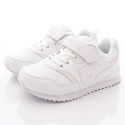 FILA頂級童鞋 私校必備運動鞋款 EI13R-111白(中大童段)C