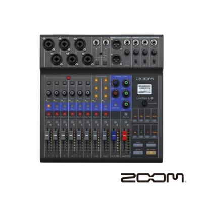 ZOOM LiveTrak L-8 直播混音器錄音介面-公司貨