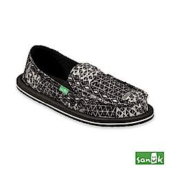 SANUK-DONNA OJAI FOLK 格紋造型懶人鞋-女款(黑色)