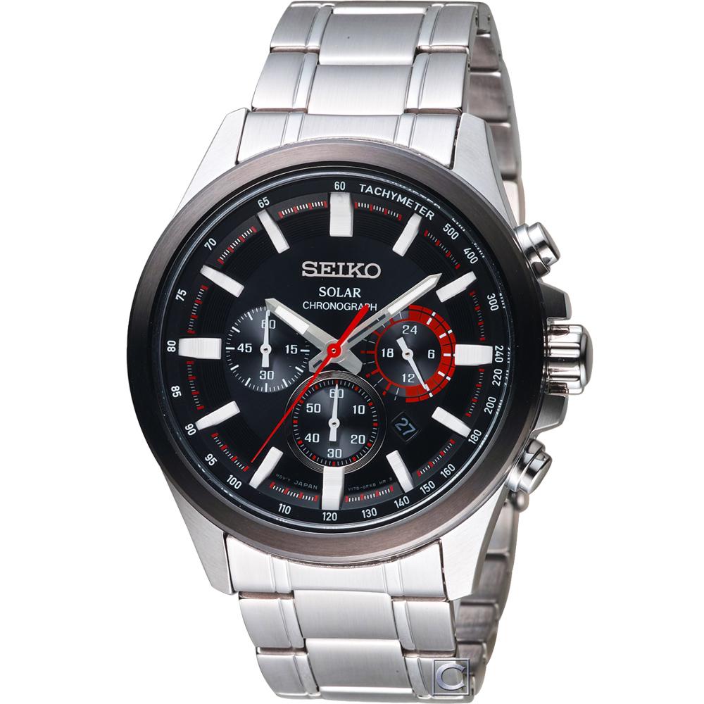 SEIKO 精工Criteria太陽能計時腕錶(SSC677P1)