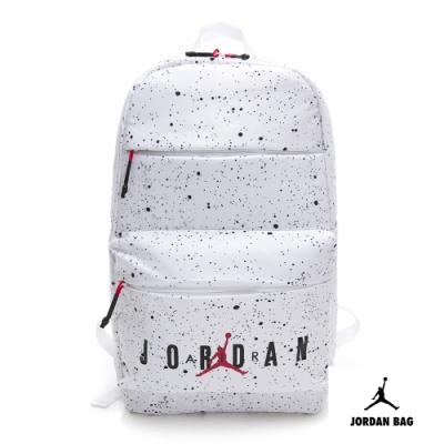 NIKE AIR JORDAN PACK 喬丹 運動休閒後背包 白黑 9A0144-661