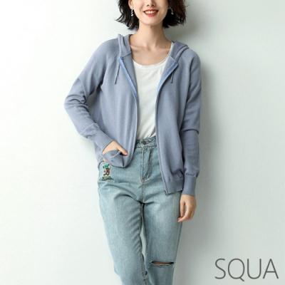 SQUA 繫帶連帽針織外套-三色-(S~L)
