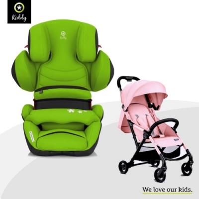 奇帝Guardian Pro <b>2</b> 可調式安全汽車座椅(春天綠)加Gubi輕型手推車(三色可選)