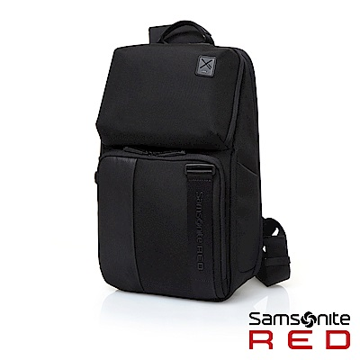 Samsonite RED ACTAEON 輕量單肩筆電斜跨包13(黑)