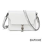 達芙妮DAPHNE-輕盈俏麗別緻流蘇小方包-白色