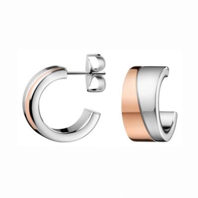 CALVIN KLEIN Hook 系列柔美玫瑰金耳環