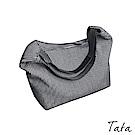 條紋帆布大方手提包 TATA