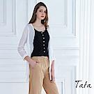 輕涼排扣罩衫 TATA