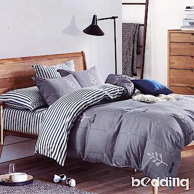 BEDDING-活性印染雙人鋪棉床包兩用被套四件組-楓韻