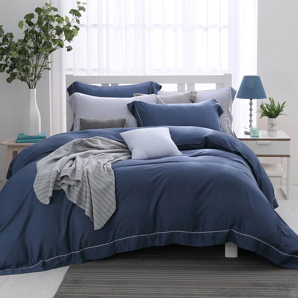 LASOL睡眠屋-100%奧地利天絲 單人兩用被床包三件組沉靜夜色