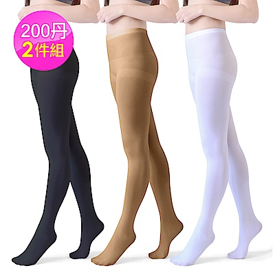 Dione 200丹超彈性 3D韻律配搭褲襪 (2雙)