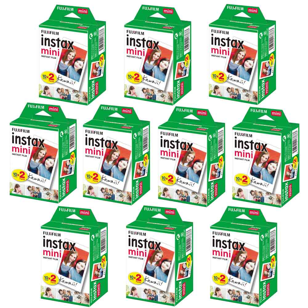 富士 instax mini 空白底片 10盒 (20入共200張)