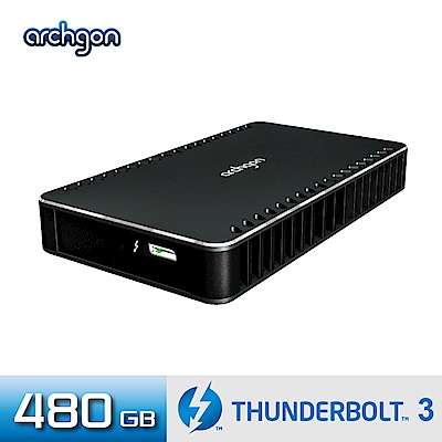 Archgon X70 外接式固態硬碟 Thunderbolt 3-480GB -曜石黑