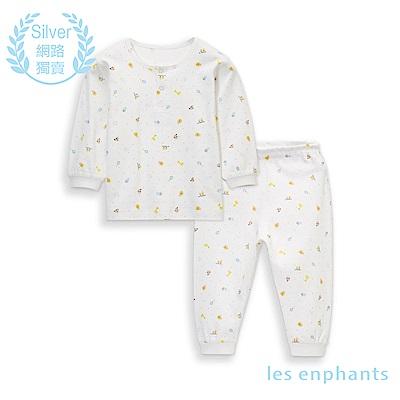 les enphants 精梳棉系列動物兩粒釦套裝