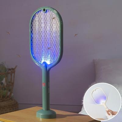 樂嫚妮 二合一充電電蚊拍/補蚊燈-(2色)