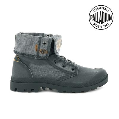Palladium PALLADENIM BAGGY單寧帆布靴-男-鐵灰