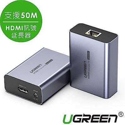 綠聯 HDMI 訊號延長器 發射端+接收端 支援50米