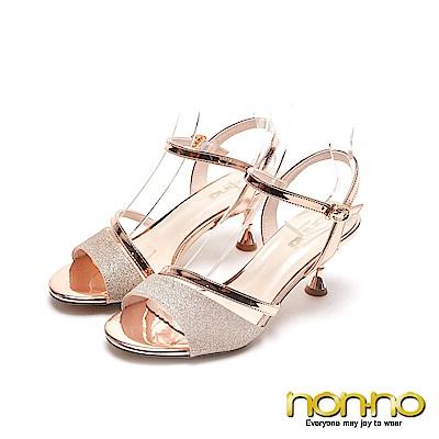nonnon 優雅時尚 時尚造型細高跟鞋 金