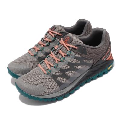 Merrell 戶外鞋 Antora 2 GTX 防潑水 女鞋 登山 越野 耐磨 黃金大底 穩定 支撐 灰 綠 ML066942