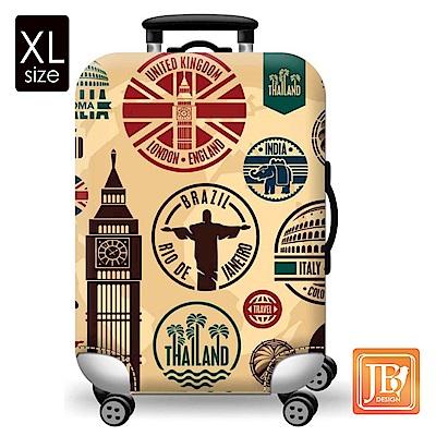 繽紛行李箱套-環遊世界XL