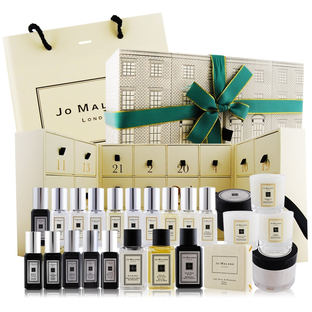 Jo Malone 聖誕限量倒數日曆(香水X15+沐浴品X4+乳霜X2+蠟燭X3)附提袋