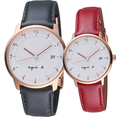 agnes b. 巴黎情緣時尚對錶 (BS9001J1+B4A002J1)