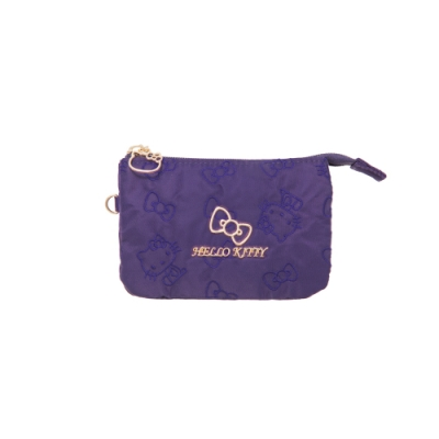 【Hello Kitty】快意之旅-三層零錢包-紫 KT01R09PL