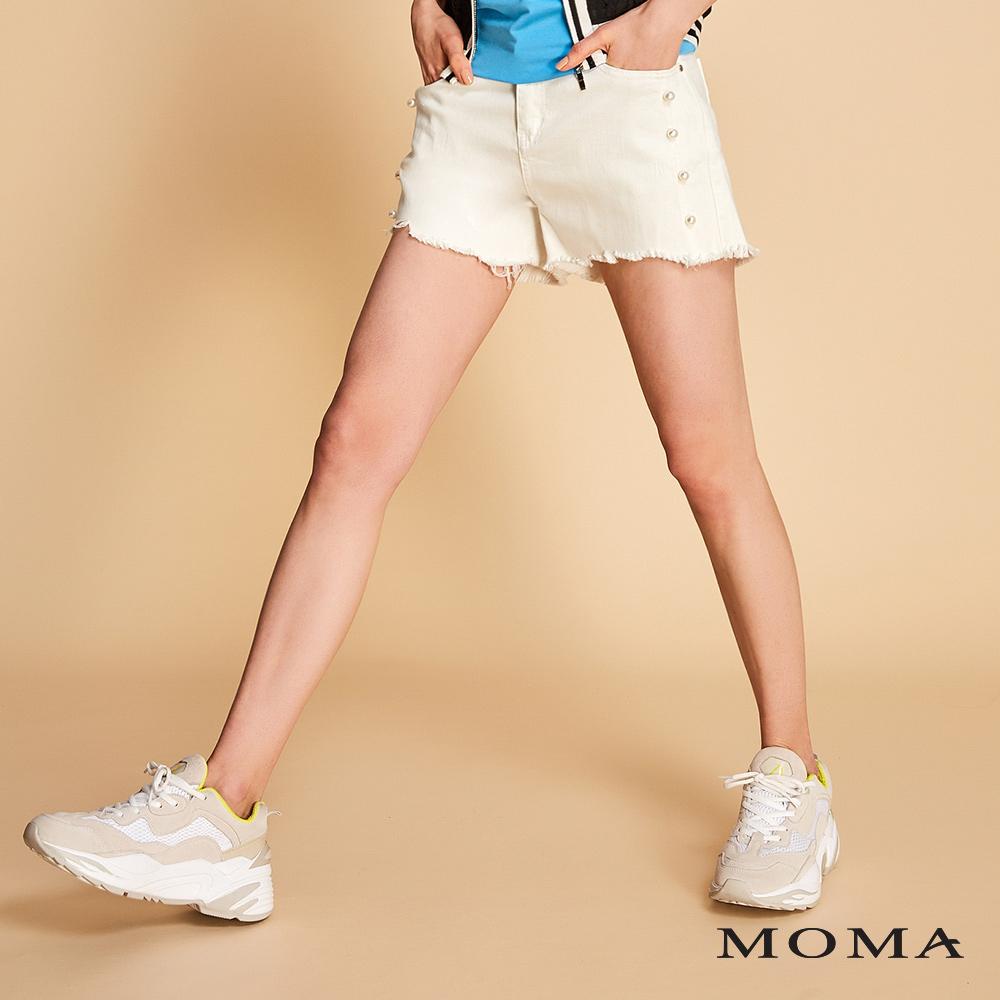 MOMA 高腰抽鬚短褲