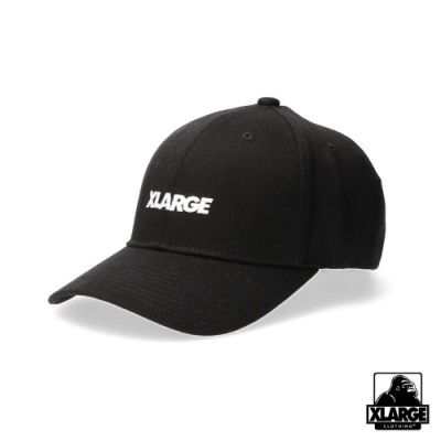 XLARGE EMBROIDERY STANDARD LOGO 6PANEL CAP棒球帽-黑