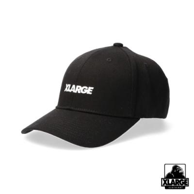 XLARGE EMBROIDERY STANDARD LOGO 6PANEL CAP棒球帽-黑