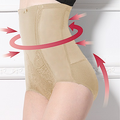 可蘭霓Clany  高腰遠紅外線雕塑M-2XL纖體褲 春漾膚
