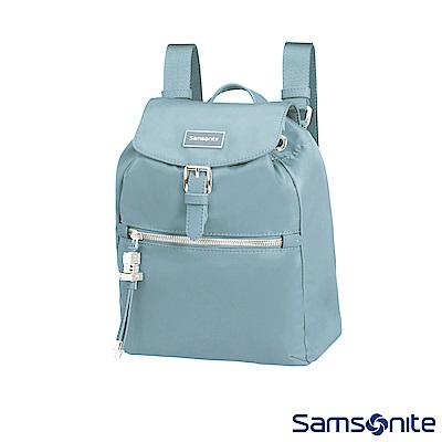Samsonite新秀麗 KARISSA 經典時尚抽繩吊飾後背包XS(淺灰藍)
