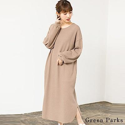 Green Parks 華夫格圓領連身裙