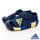 adidas童鞋 輕量護趾鞋款 NI7199藍(小童段)