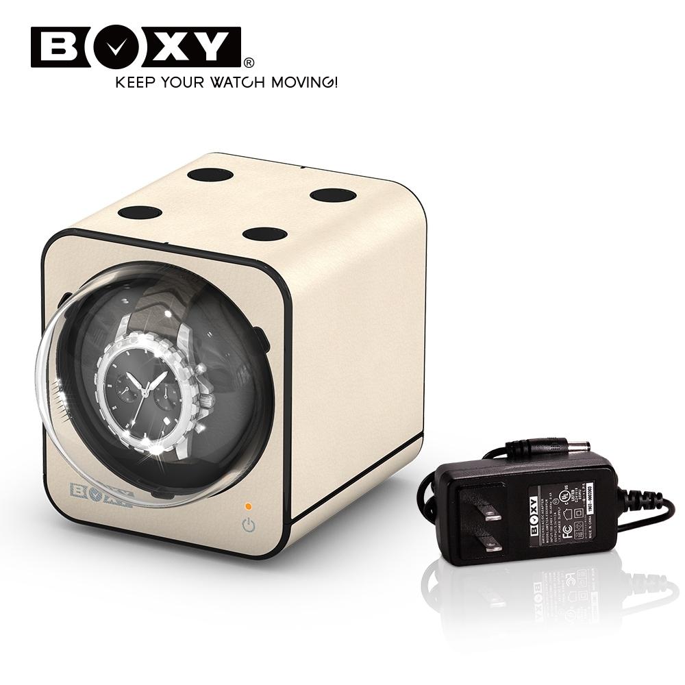 BOXY自動錶機械錶上鍊盒 Fancy Brick 皮革款-含變壓器 winder product image 1