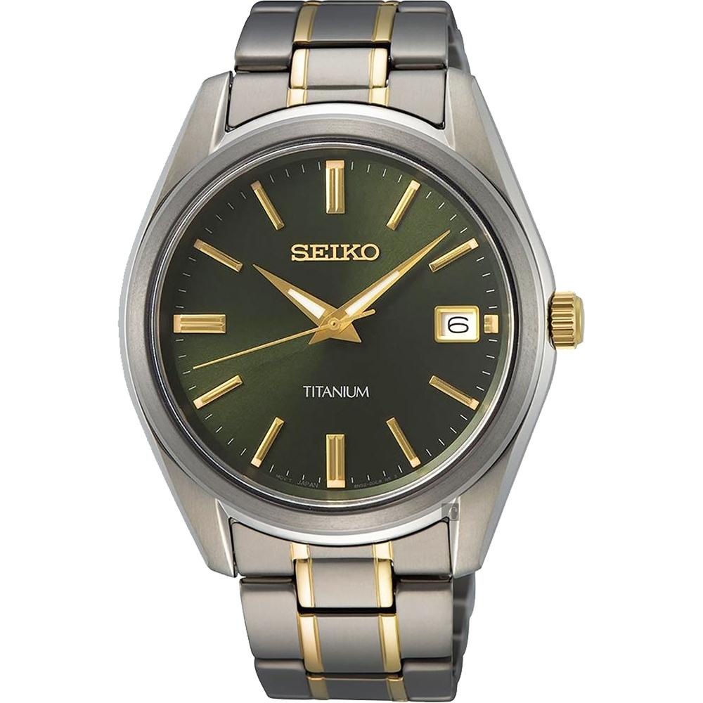SEIKO精工 CS 鈦金屬簡約手錶(SUR377P1/6N52-00B0G)-40mm