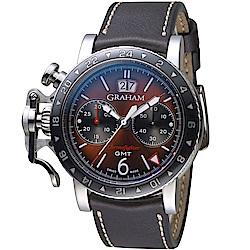 GRAHAM格林漢Chronofighter復古GMT腕錶2CVBC.C01A.L126S