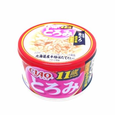 日本 CIAO 多樂米濃湯罐 A-46 11歲 雞肉&鮪魚&干貝 80g