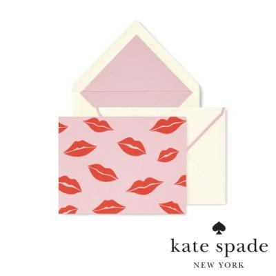 Kate Spade 唇唇欲動紅印卡片信封套組 Foldover Card Set,Lips