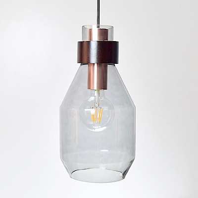 bnatural 煙灰色長酒瓶造型吊燈 BNL00123