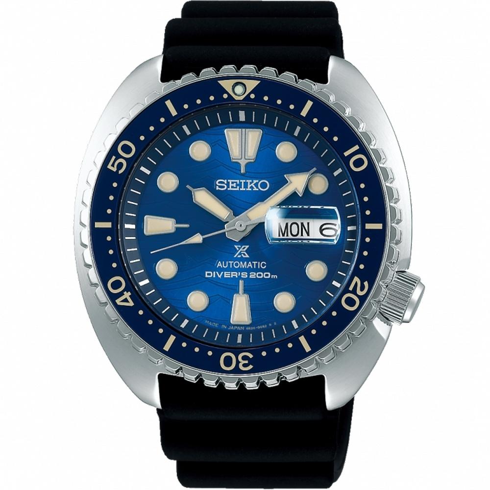 SEIKO精工PROSPEX SAVE THE OCEAN 陶瓷圈機械錶/45mm