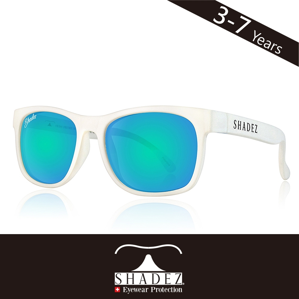 瑞士SHADEZ兒童頂級偏光太陽眼鏡SHZ-408(年齡3-7)-白框天空藍