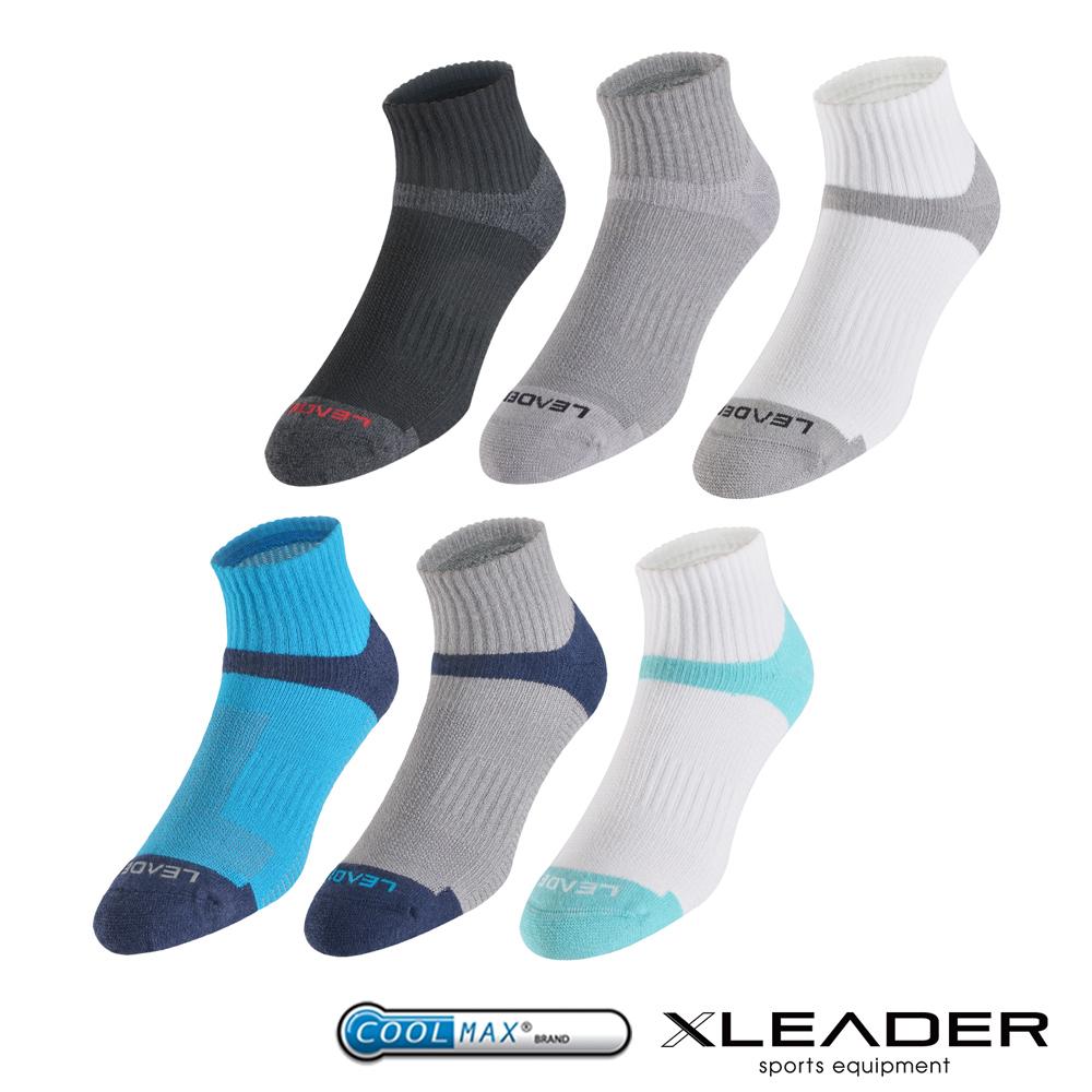 LEADER ST-06 Coolmax排汗除臭機能運動襪 男款 6色1組