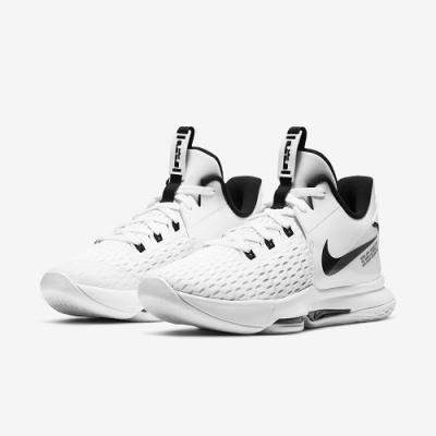 NIKE 籃球鞋 運動鞋 緩震 包覆 男鞋 白黑 CQ9381-101 LEBRON WITNESS V EP