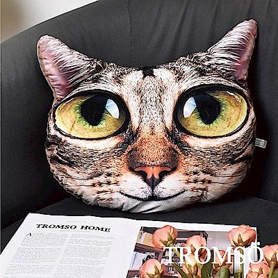 TROMSO 大眼貓星人抱枕-C403頑皮虎斑貓